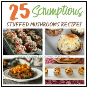 If you love mushrooms and love being adventurous in your food selections, don't miss these Scrumptious Stuffed Mushrooms Recipes! :: www.homeschoolgiveaways.com