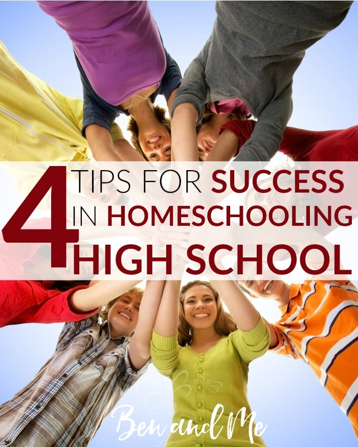 4-Tips-for-Success-in-Homeschooling-High-School