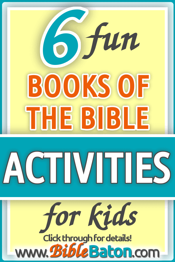 6 Fun Books Of The Bible Learning Activities