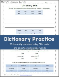 Dictionary-Skills-Worksheet