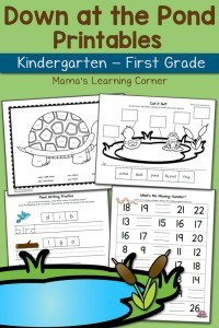 Down-at-the-Pond-Worksheet-Packet-K-and-First-Grade-650x975
