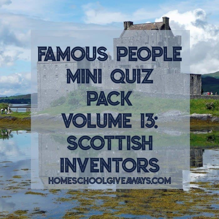Famous People Mini Quiz Pack Volume 13-Scottish Inventors