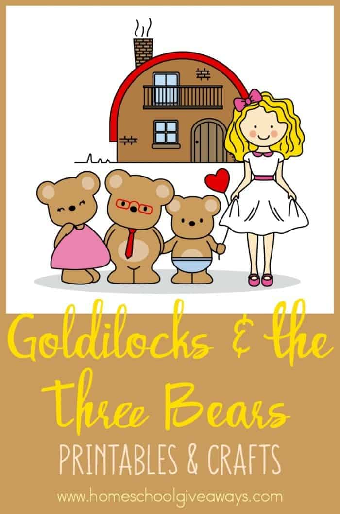 image about Printable Bears Schedule identify Goldilocks and the 3 Bears Printables and Crafts