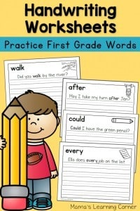 Handwriting-Worksheets-First-Grade-Sentences-650x975