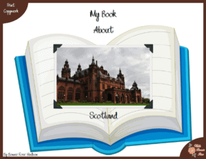 My Book About Scotland Geography Copywork