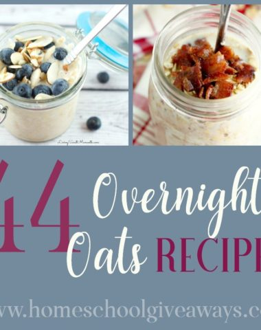 Whether you are an early riser, late sleeper or just need a healthy and quick breakfast option, these Overnight Oats Recipes are sure to hit the spot! :: www.homeschoolgiveaways.com