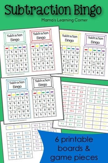 Subtraction-Bingo