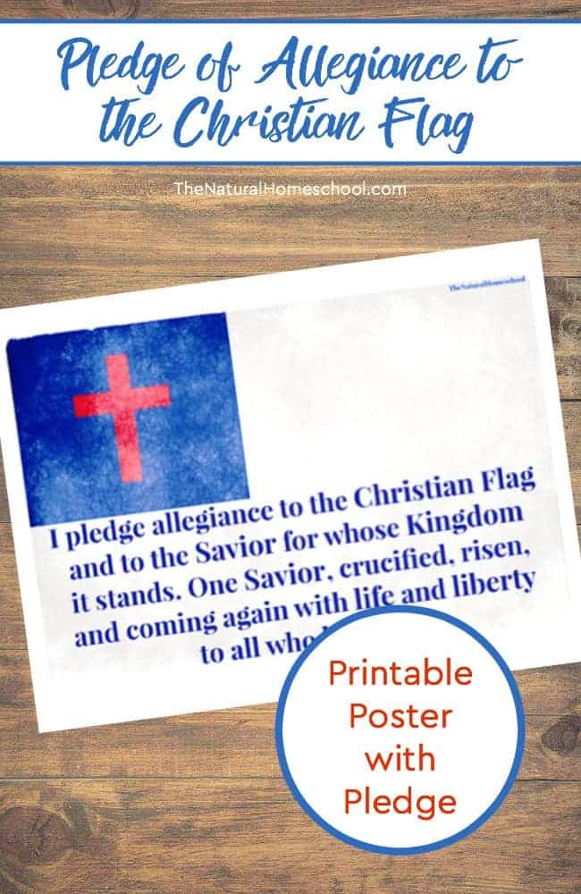 photograph relating to Pledge to the Bible Printable titled Why Yourself Should really Coach the Christian Flag Pledge toward Your Children