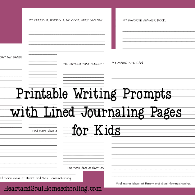 graphic relating to Printable Writing Prompt identify Cost-free Printable Magazine with Summer time Composing Prompts for Little ones