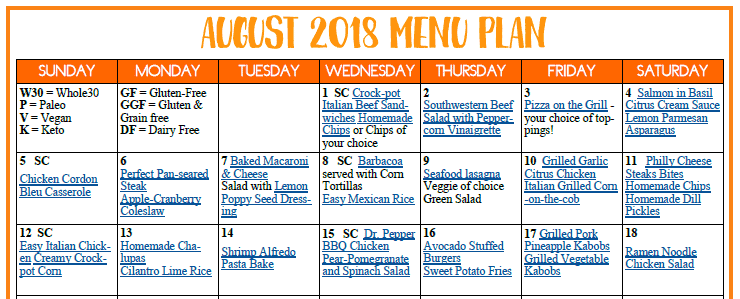 August Meal image