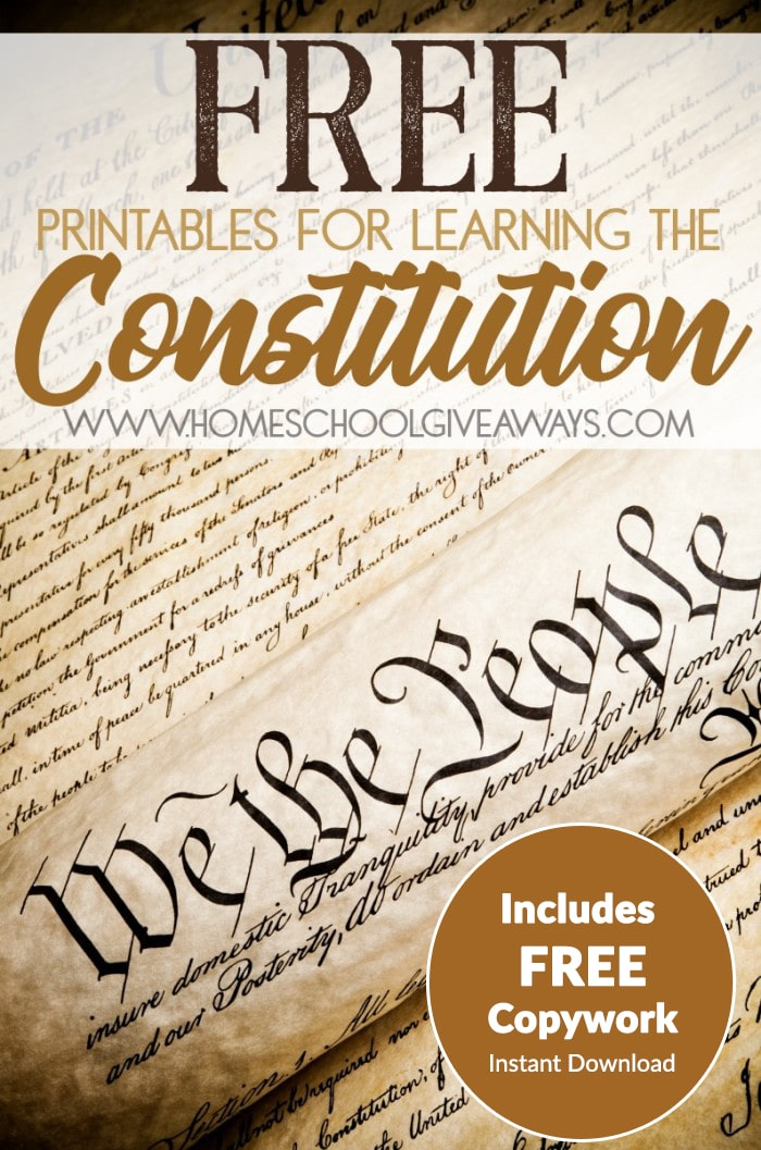 Free printables for learning the constitution (free instant.