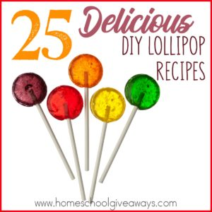 Lollipops can be used for a variety of purposes. From nausea to pain relief to enjoyment. Check out these delicious DIY Lollipop Recipes! :: www.inallyoudo.net