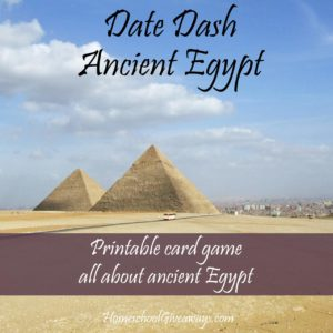 FREE Date Dash Ancient Egypt Card Game