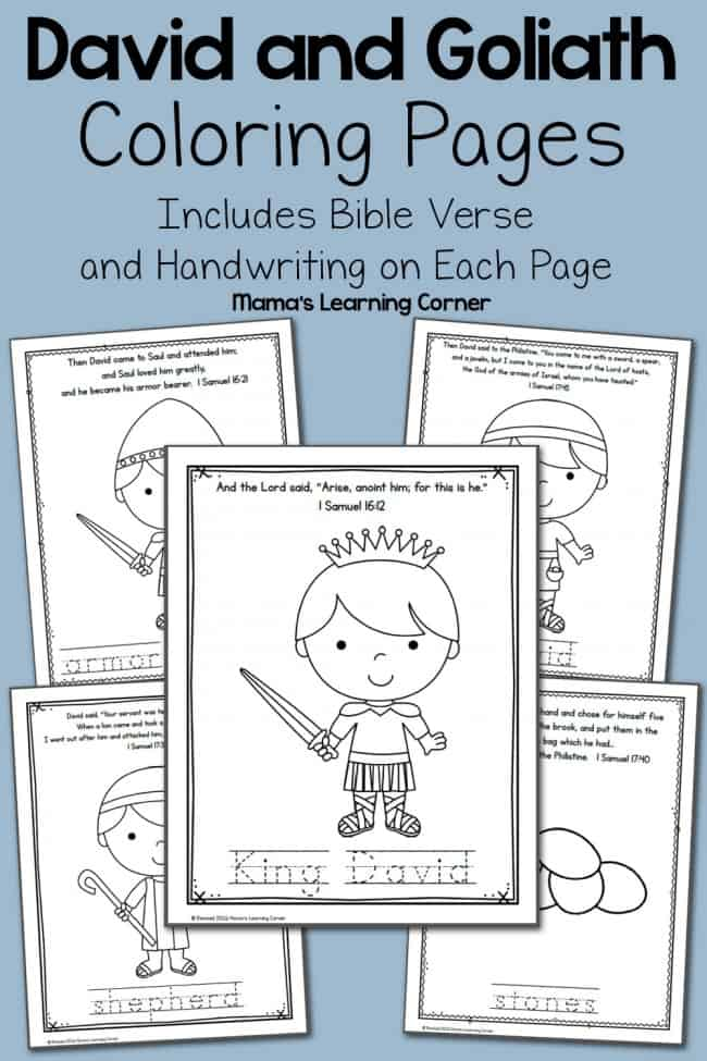 FREE David and Goliath Coloring Pages Homeschool Giveaways