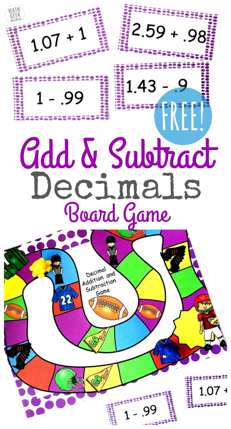 free adding and subtracting decimals game homeschool giveaways