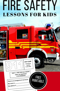 Fire Safety Lesson Plans and Free Printable