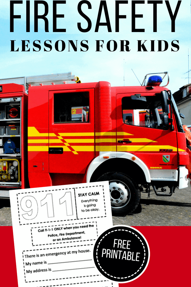 Fire Safety Lessons Plans And Free Printable Homeschool