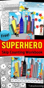 Superhero-Skip-Counting-Workbook