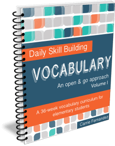 Daily Skill Building: Vocabulary Volume I - Full, Independent Curriculum for 3rd-4th Graders
