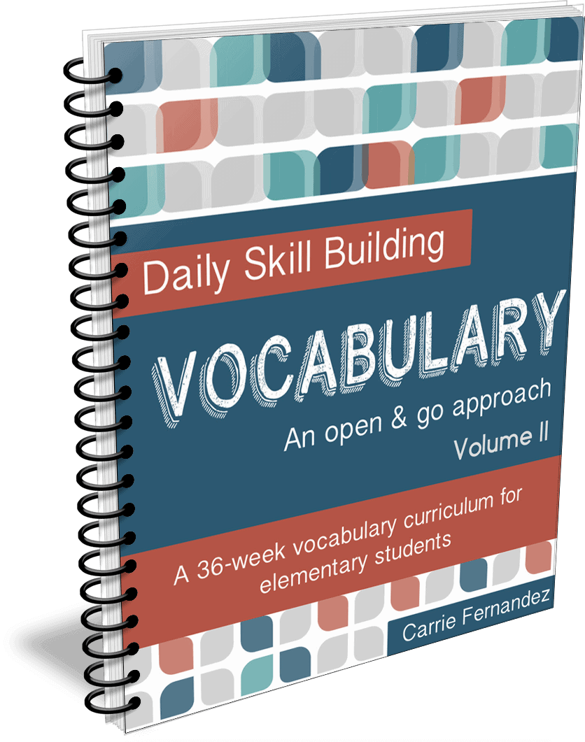 Daily Skill Building: Vocabulary Volume II - Full, Independent Curriculum for 5th-6th Graders