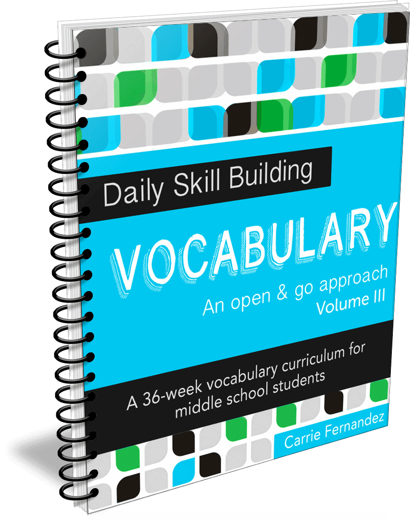 Daily Skill Building: Vocabulary Volume III - Full, Independent Curriculum for 7th Grade/Middle School