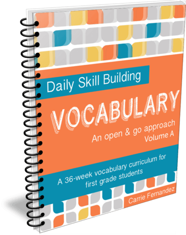 Daily Skill Building: Vocabulary Volume A - Full, Independent Curriculum for 1st Graders