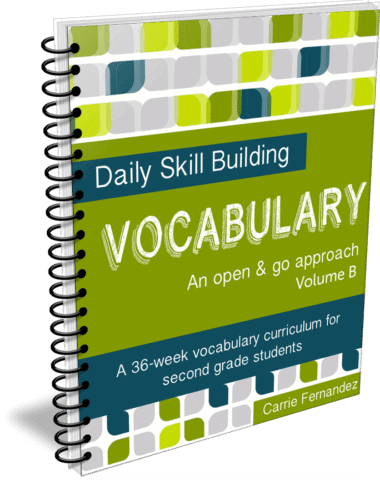 Daily Skill Building: Vocabulary Volume B - Full, Independent Curriculum for 2nd Graders