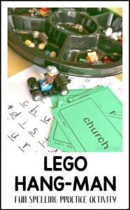 lego hangman spelling practice