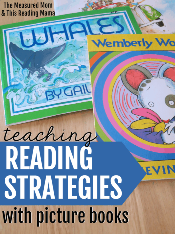 books laid out with overlay - Teaching Reading Strategies with Picture Books