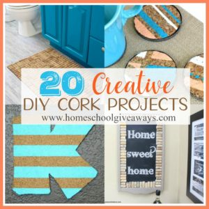 Have you ever thought about using wine corks to create fun projects? Check out these creative DIY projects that you can make with your kids! :: www.homeschoolgiveaways.com