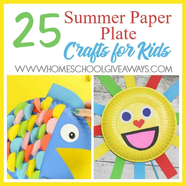 25 Summer Paper Plate Crafts For Kids Homeschool Giveaways