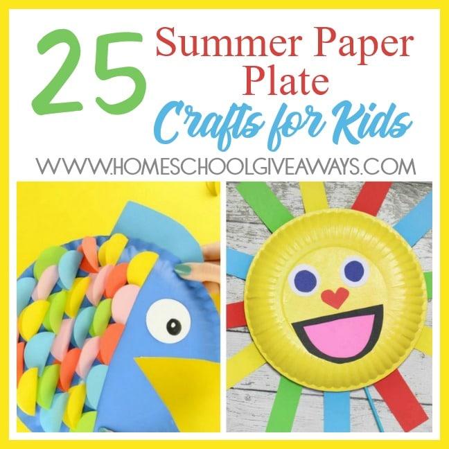 25 Summer Paper Plate Crafts For Kids Homeschool Giveaways