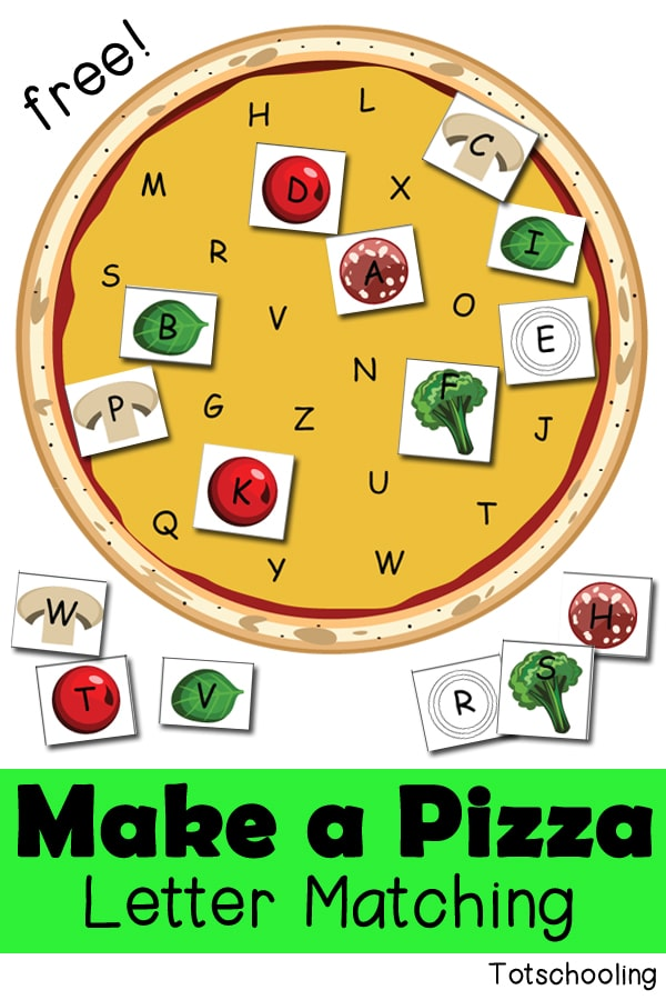 Pizza Letter Matching_free