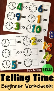 Telling-Time-Preschool-Worksheets