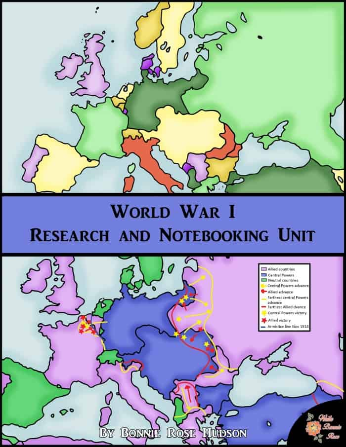 World War I: Research and Notebooking Unit