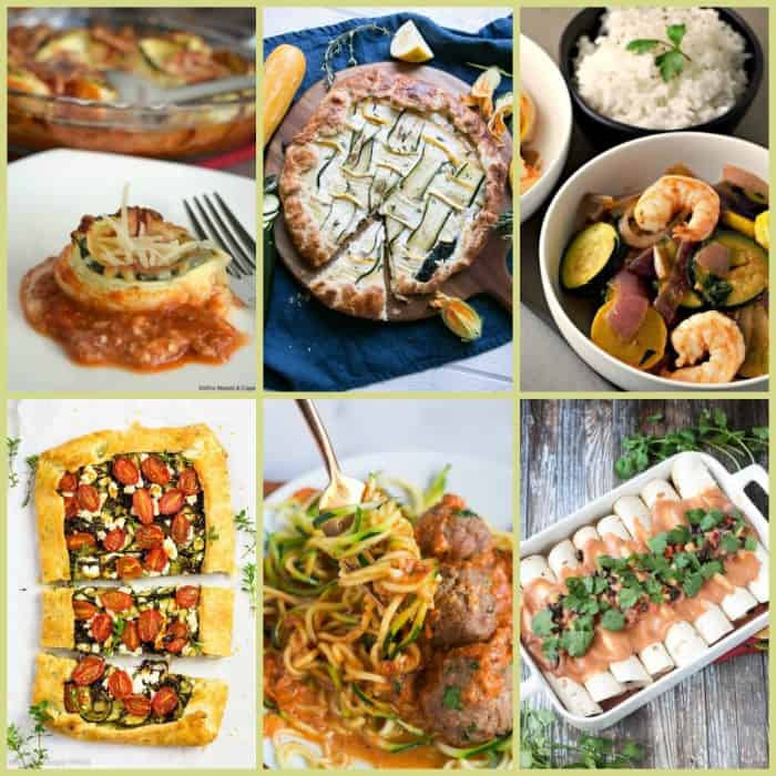Did you know there were so many different ways to cook with zucchini? Check out these amazing recipes from breakfasts to main dishes to salads, soups and even desserts! You won't be disappointed and your waistline will thank you! :: www.homeschoolgiveaways.com