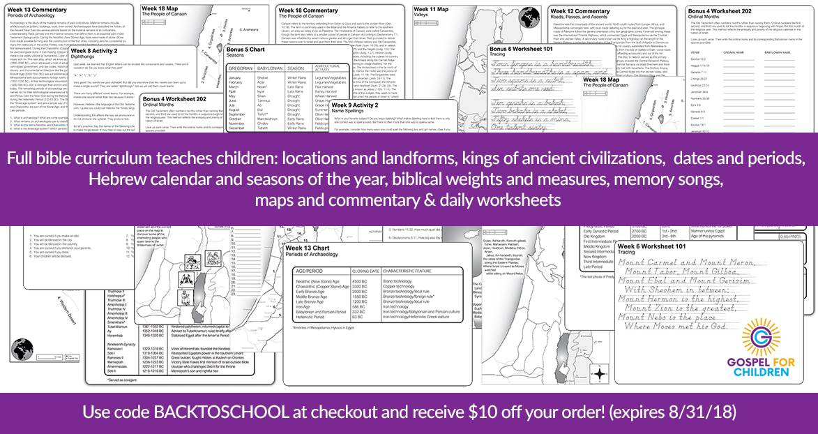 New Bible Curriculum That Incorporates History Geography Giveaway
