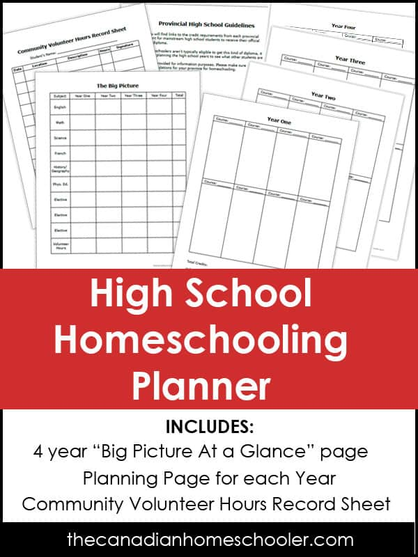 photo relating to Printable Homeschool Planners titled No cost Printable Superior University Homeschool Planner - Homeschool