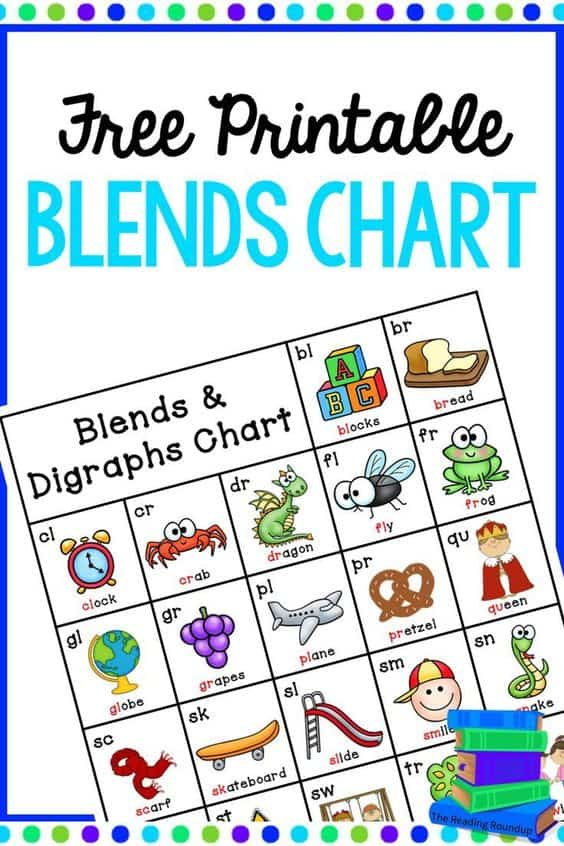 FREE Printable Blends and Digraphs Chart - Homeschool Giveaways