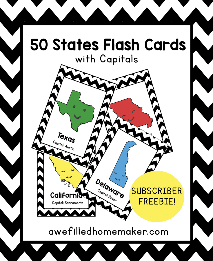 Gorgeous image intended for 50 states flash cards printable