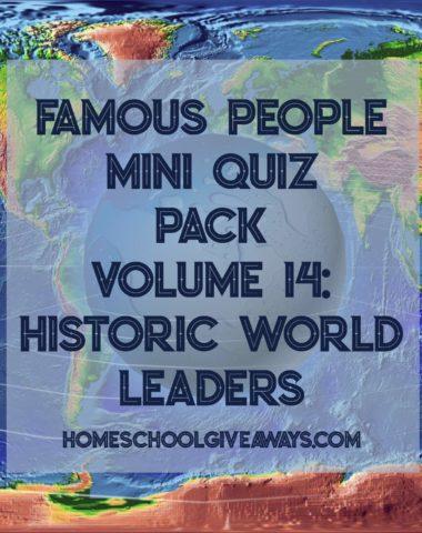 FREE Famous People Mini Quiz Pack Vol. 14 – Historic World Leaders