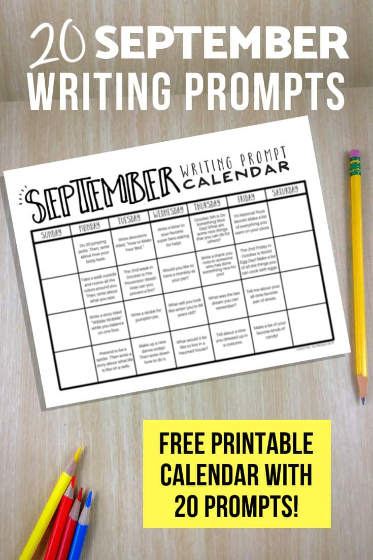 Free Writing Prompts for September
