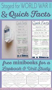 Free-minibooks-for-a-World-War-II-unit-study-and-lapbook.-Grab-Staged-for-War-and-Quick-Facts-over-@-Tinas-Dynamic-Homeschool-Plus