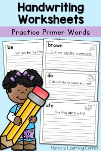 Handwriting-Worksheets-Primer-Sentences-650x975