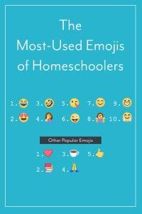 The Most-Used Emojis of Homeschoolers
