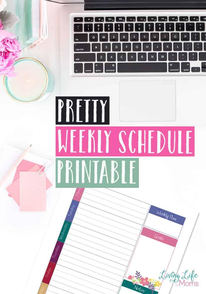 pretty weekly schedule printable homeschool giveaways