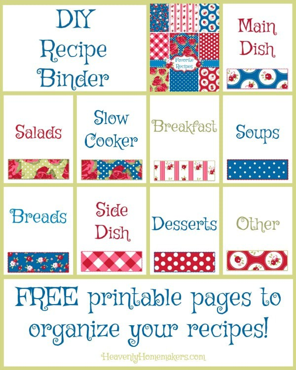 free diy recipe binder pages and organization tips homeschool