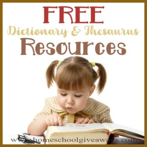 Do your kids know how to use a Dictionary and Thesaurus? Grab these FREE printable worksheets and activities to help them practice and even learn some new words! #dictionary #thesaurus #languagearts #hsfreebies