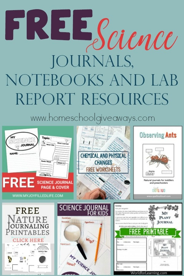 Whether you want some supplements and additional printables to your science curriculum or you take a more relaxed approach, you will love these FREE Science Journals, Notebooks and Lab Reports Resources! #science #journaling #notebooking #sciencelab #homeschoolers #homeschooling