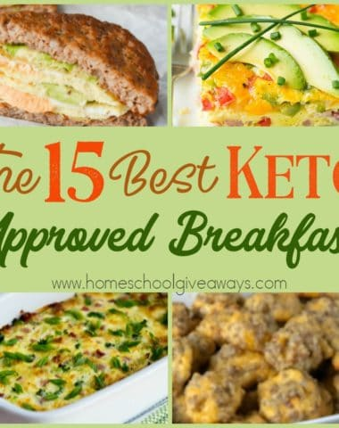 Are your mornings so hectic and crazy that you grab whatever you can for a quick breakfast? Check out these KETO approved recipes that will keep you on track and ready for the day. :: www.homeschoolgiveaways.com